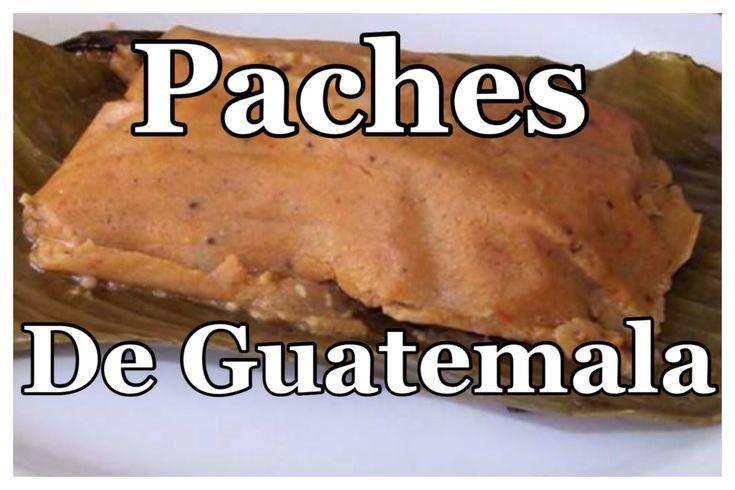 Como Hacer tamales de Papa...Paches de Guatemala