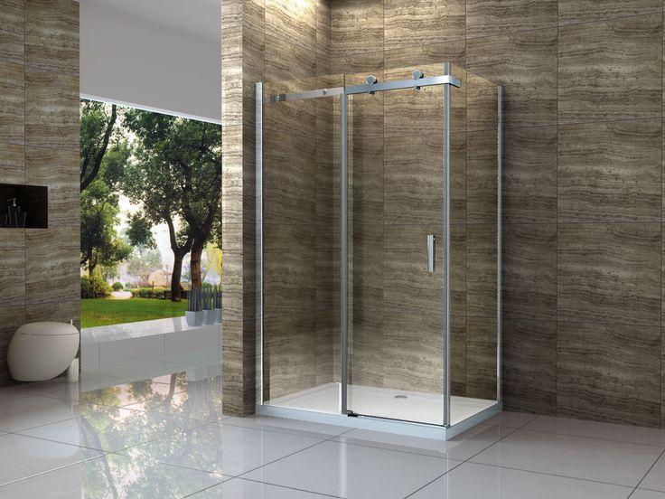 AREA 100 X 80 Cm Glas Schiebetür Dusche Duschkabine Duschwand  Duschabtrennung In Heimwerker, Bad U0026