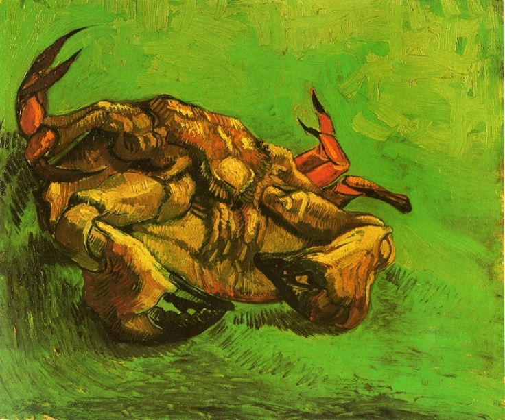 "Vincent van Gogh ""Crab on It's Back"", oil on canvas (1889)"