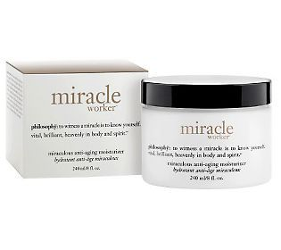 Try this anti-aging miracle worker- philosophy supersize miracle worker moisturizer, 8 oz.