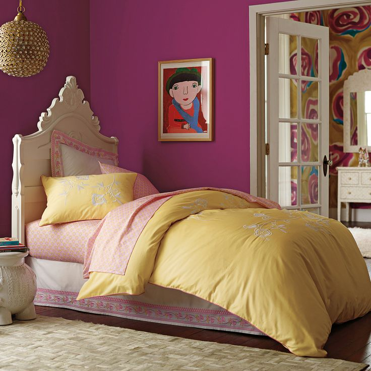 such a sweet palate for a little girls room.