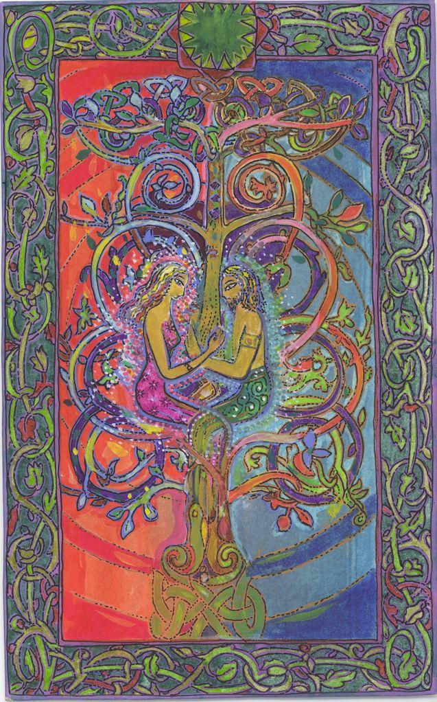Féminitude series by MYRRHA, créatrice, peintre, artiste de l'âme et de la lumière (artist of the soul & of the light)