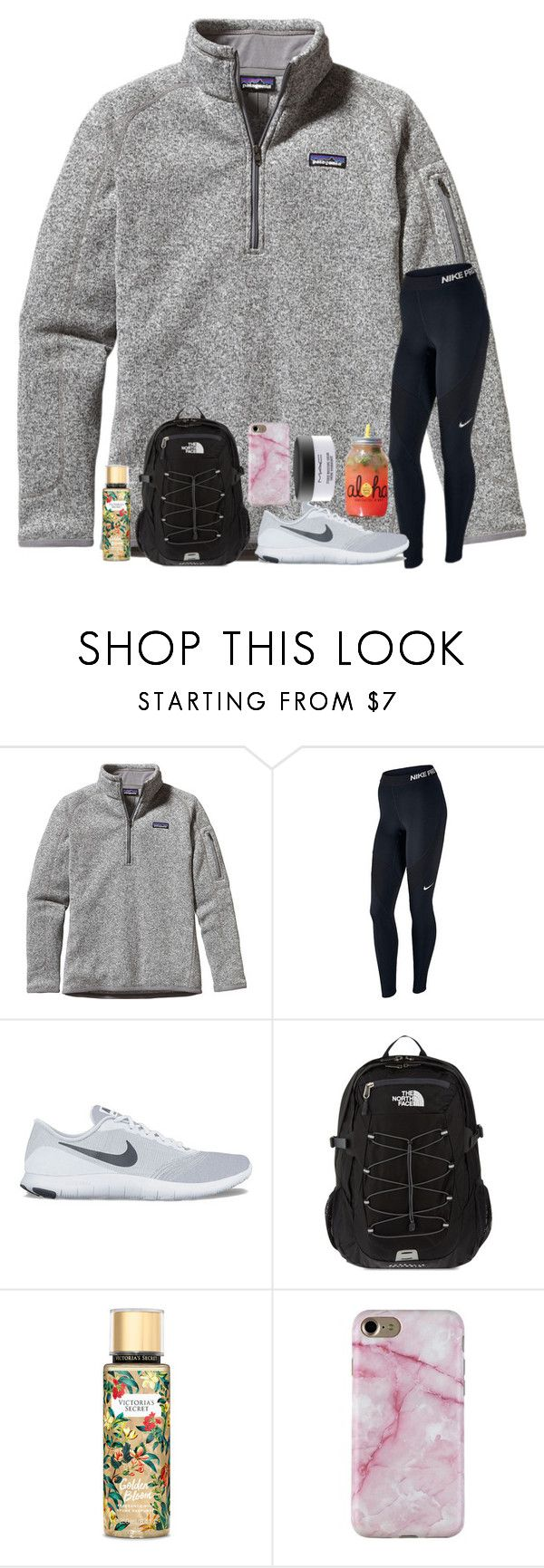 """""""tmmr is officially one year for me and my bf!!"""" by ctrygrl1999 ❤ liked on Polyvore featuring Patagonia, NIKE, The North Face, Victoria's Secret and MAC Cosmetics"""