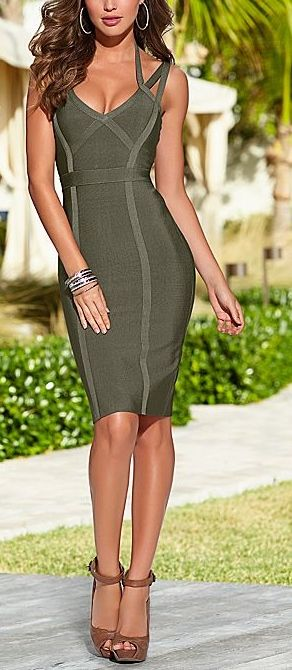 Chloe Olive Green Bandage Style Bodycon Dress AUD$84.15 + free shipping. Enjoy 25% OFF this Easter... Use code: Fashion25UCB