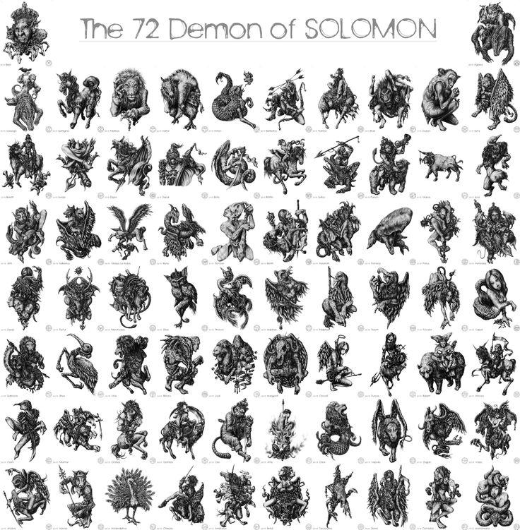 Los 72 demonios del Rey Salomón.