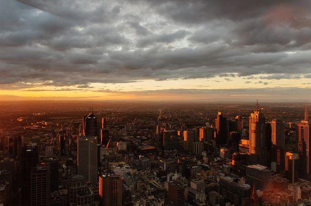 Sunset over Melbourne   Flickr - Photo Sharing!