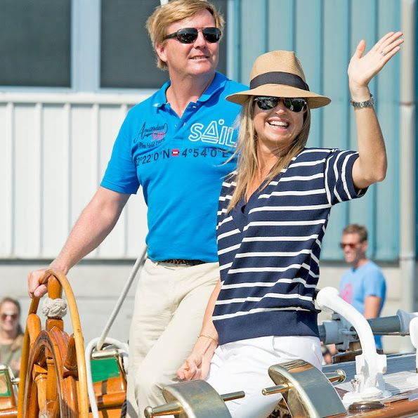 Dutch royal family visits Sail Amsterdam 2015