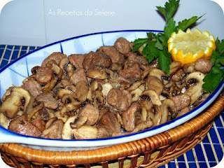 Carne de Porco com Cogumelos na Actifry