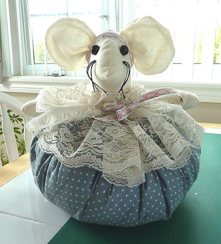 Doorstop Mouse Handmade Vintage by aLoveOfVintage on Etsy
