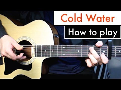 Cold Water - Justin Bieber (Major Lazor) Guitar Lesson Tutorial Chords - YouTube