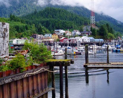 Ketchikan, Alaska......be there soon.  Very quaint and cool little fishing village.  Get there by boat or plane only......no cars