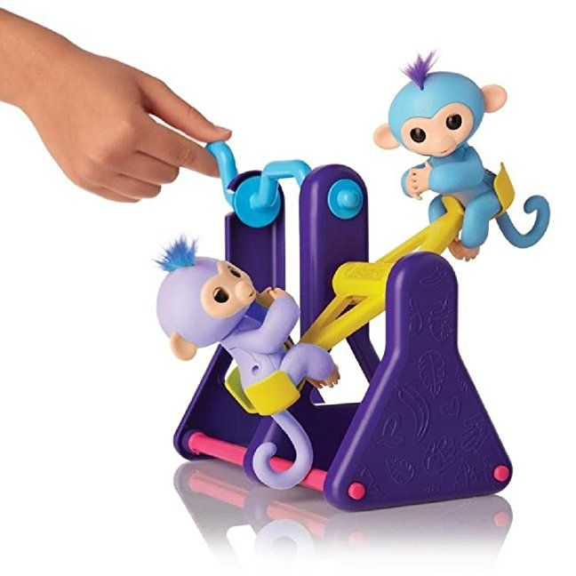 Interactive Monkey Climbing Stand,ABC® for Baby Monkey Create Playground Assorted Colors DIY Interactive (Fingerlings Seesaw Playset)