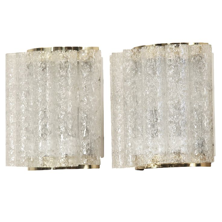 Wonderful Pair of Doria Wall Lamps in Brass and Glass | 1stdibs.com
