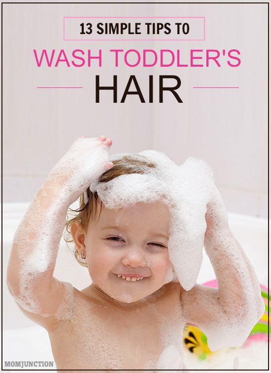 Hair Washing Toddler Hair And Toddlers On Pinterest