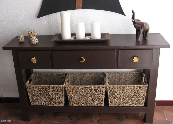 Table console chocolat tout en carton » meuble carton tiroir cartonnage » Cartonnage, papeterie, scrapbooking » Karacole loisirs créatifs en...