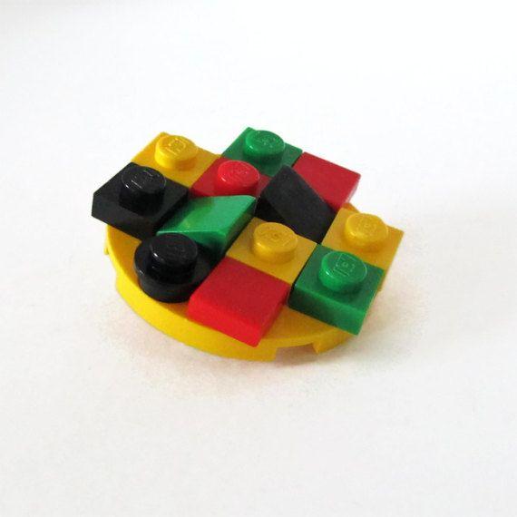 Bob Marley Brooch-LEGO® Brooch-Jamaica Brooch-Cheap by ThinkBricks