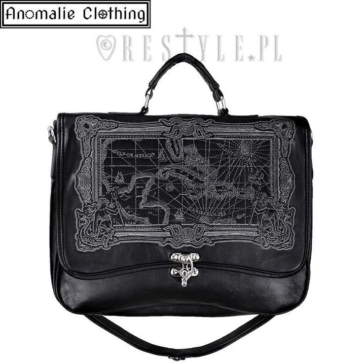 Pirate Map Briefcase Satchel in Black