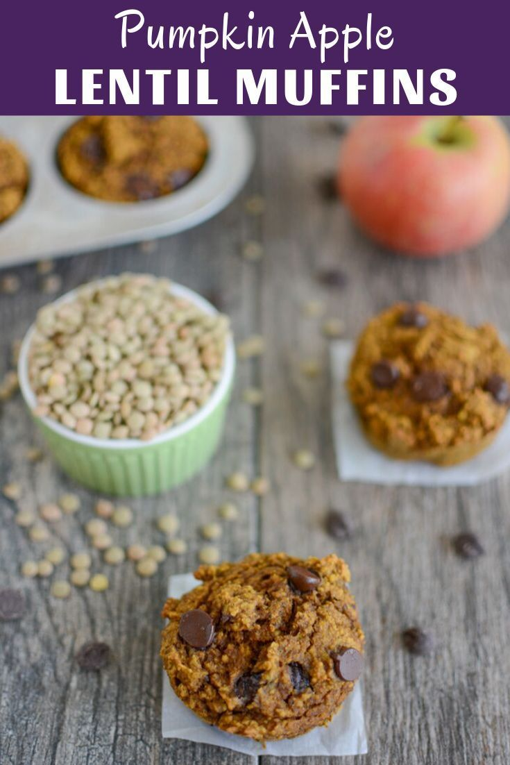 Pumpkin Apple Lentil Muffins Recipe Food Processor Recipes