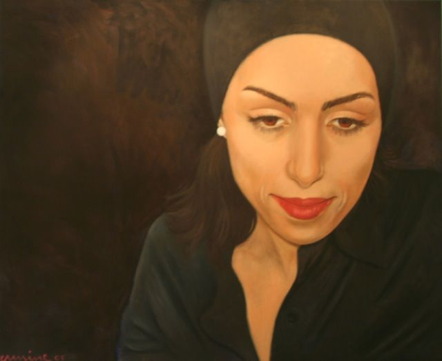 Portrait of a woman, 150x 120cm, oil on canvas, ©ermine