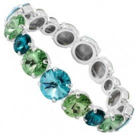 Bratara cu cristale verzi si albastre http://www.bijuteriifrumoase.ro/cumpara/elastic-rivoli-r-8-10-12-so-bracelet-3239