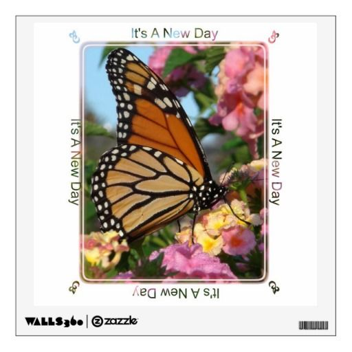 It's a New Day Butterfly Wall Decal (small $18.95). Place on office wall or a room that you use each morning for a bit of inspiration.