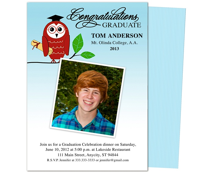 Best Printable Diy Graduation Announcements Templates Images On