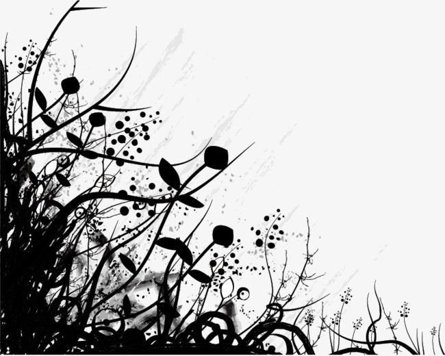 Flowers Silhouette Plant Silhouette Flowers Png Transparent Image And Clipart For Free Download Abstract Flower Silhouette Vector Background