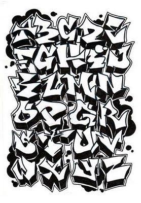 Graffiti 3D Alphabet A-Z | http://graffitialphabet.blogspot.pt/
