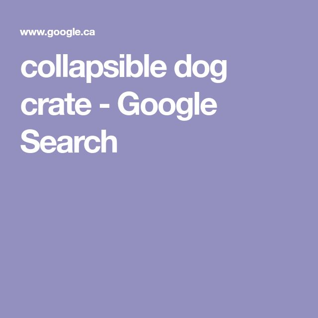 collapsible dog crate - Google Search