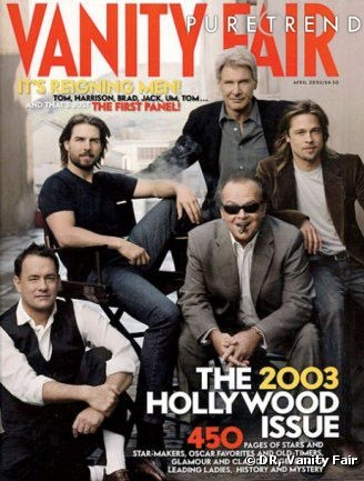 VANITY FAIR BRAD PITT   ... Nicholson, Brad Pitt en couverture du Vanity Fair Hollywo - Photos