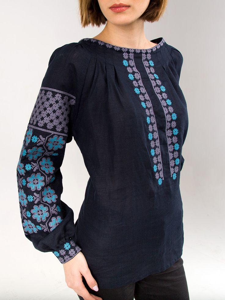 Жіноча вишиванка ES15 – купити ручну роботу по найкращій ціні від ЕтноДім