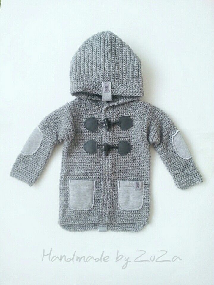Crochet baby boy sweaters