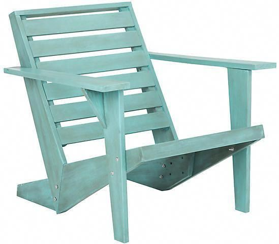One Kings Lane Lanty Adirondack Chair - Blue #ForRentChairsAndTables