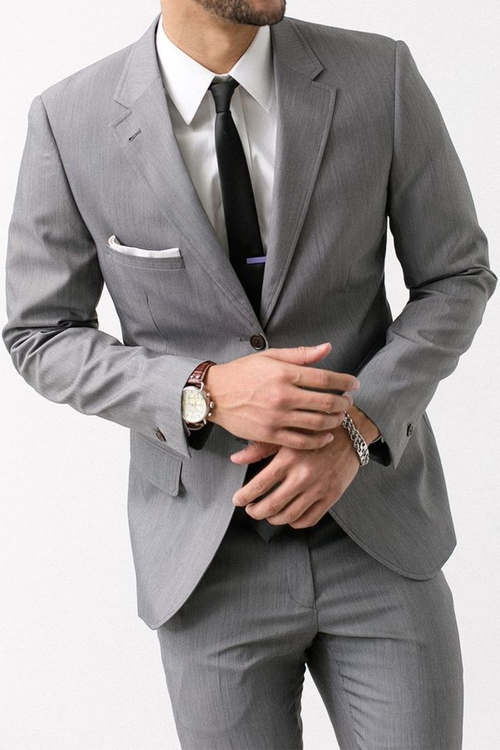 costard homme pas cher gris anthracite, costard gris pas cher