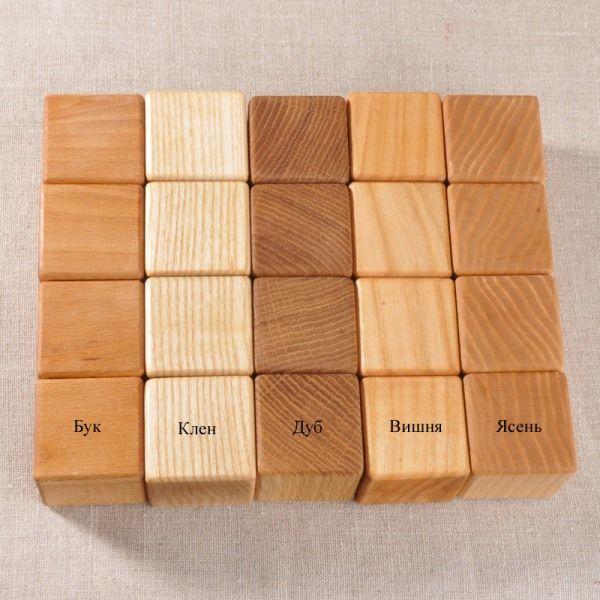 Деревянные детские кубики своими руками