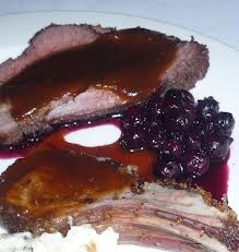 Pork Tenderloin with Service Berry Sauce - http://recipes.howstuffworks.com/new-fruit-saskatoon-berries-recipe.htm