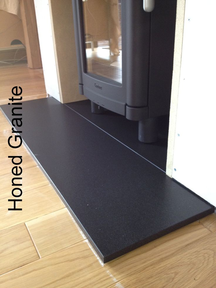 how to clean honed granite hearth