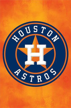 Houston Astros Logo Baseball Poster