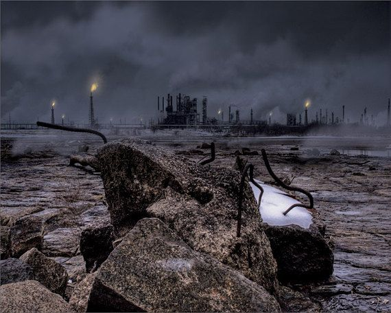 Industrial Fine Art Photograph Composite Laid To Waste