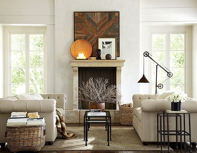 135 best pottery barn images on pinterest candle sticks for Living room and family room next to each other