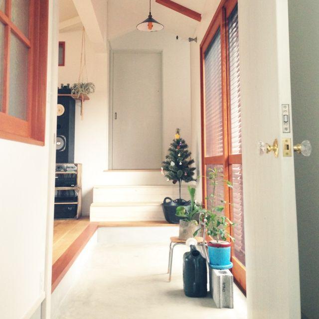 soranootoさんの、玄関/入り口,クリスマスツリー*,土間玄関,コウモリラン♡,のお部屋写真