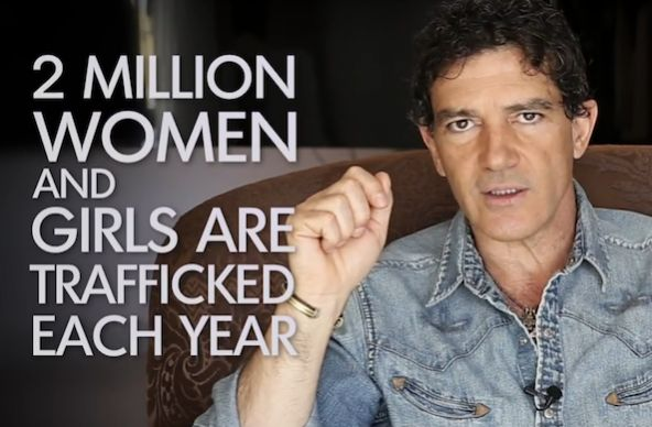 Antonio Banderas has launched a global appeal asking the public, especially men, to end violence against women. Here is the video.