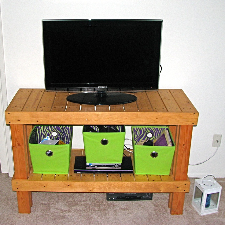 2 x 4 tv stand plans
