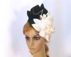 Winter fashion fascinator with flower buy online Australia F535BC