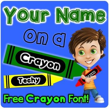 Perfect for cubby doors, table names, bulletin boards, decorations, crayon themed classrooms, or just for fun! Your Name on a Crayon gives you extreme flexibility in creating crayons perfect for your classroom.  Change crayons to ANY color Comes with FREE Crayon .ttf font, compatible with most machines Crayons come in both left- and right-facing format PowerPoint document allows complete user controlPlease Note: Crayon size is approximately 1x5 inches.