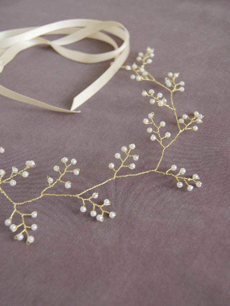 Gold and pearl headpiece