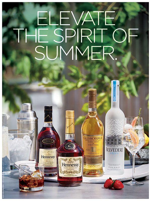 Still life photo shoot for Moet / Hennessy liquors.