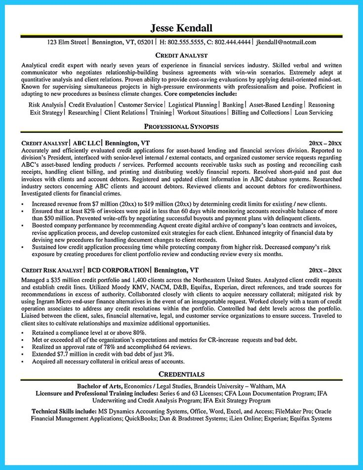 nice Cool Credit Analyst Resume Example from Professional, Check more at http://snefci.org/cool-credit-analyst-resume-example-professional