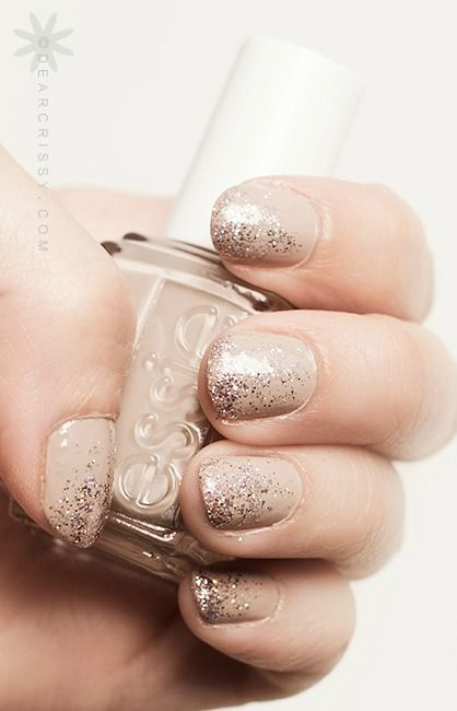 Create a gorgeous nail art design with a little glitz and glam! Starting with a neutral shade of Essie nail polish gives you so many options for creating the perfect holiday manicure. Add a glitter topcoat to help celebrate the season and show off your playful side.