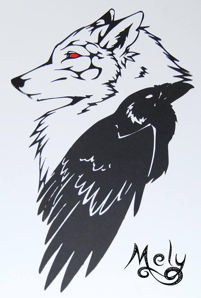 Ispirata al finale della puntata 5x10 «mother's mercy» ho rielaborato un disegno di un tatuaggio trovato online in modo da poter realizzare un papercutting con uno stemma legato a Jon Snow. I metalupi di casa Stark (in questo caso Spettro)passato di Jon Snow e il corvo dei Guardiani della Notte il suo presente. «Dark Wings, Dark Words» #melyscraft #papercutting #gameofthrones #got #asoiaf #NightsWatch #JonSnow #Ghost #HouseStark #handcutting #handmade